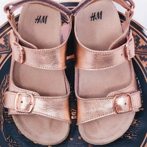 H&M Strappy Leather Sandals